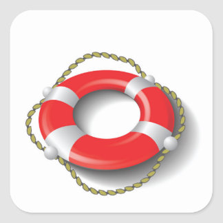 107Lifebuoy _rasterized Square Sticker