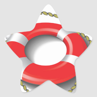 107Lifebuoy _rasterized Star Sticker