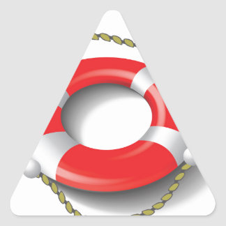 107Lifebuoy _rasterized Triangle Sticker