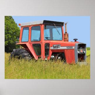 1085 Massey Ferguson Parked In A Field Poster