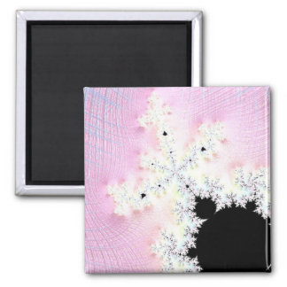 108-01 black mandy in a pink sky square magnet