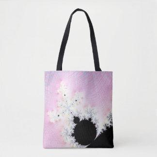 108-01 black mandy in a pink sky tote bag