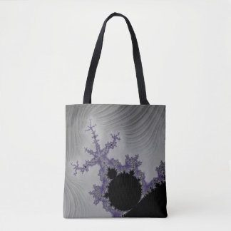 108-02 black mandy in a gray sky tote bag