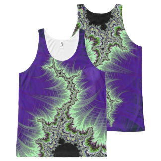 108-06 black mandy with white lightning All-Over-Print tank top