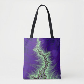 108-06 black mandy with white lightning tote bag