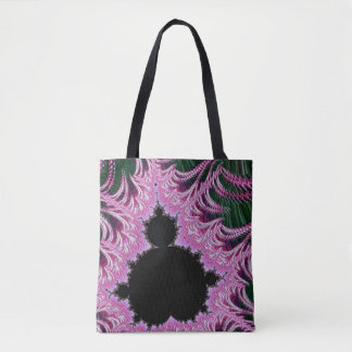108-07 black mandy in green spikes tote bag