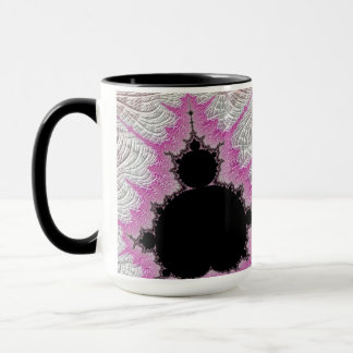 108-08 black mandy in metallic pink field mug