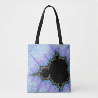 108-09  black mandy in a blue sky tote bag