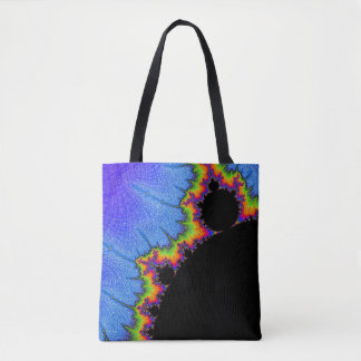 108-10 big black mandy with rainbow aura tote bag