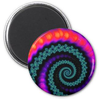108-13 green & rainbow spiral magnet