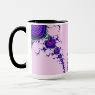 108-18 purple spirals on pink mug