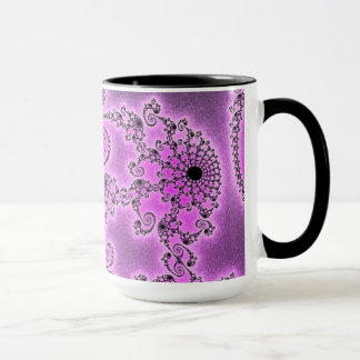 108-27 black lace on violet mug