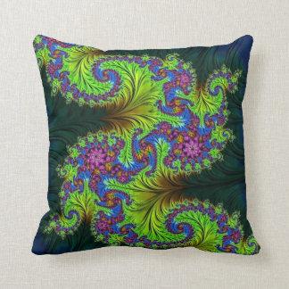 108-29 yellow & purple dragon pillow