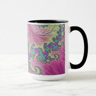 108-31 turquoise dragon on fuchsia mug