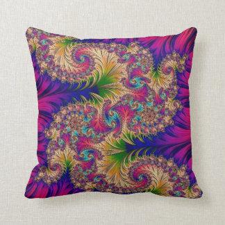 108-31 turquoise dragon on fuchsia pillow