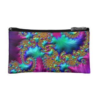 108-32 textured rainbow paisley makeup bag