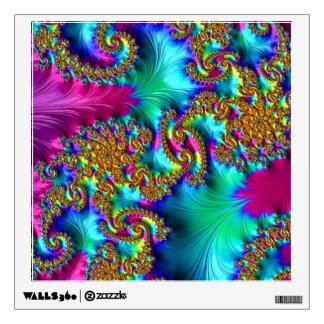 108-32 textured rainbow paisley wall decal