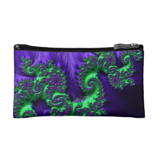 108-33 lime & purple dragon on purple makeup bags