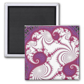 108-34 white claws in pink & purple square magnet