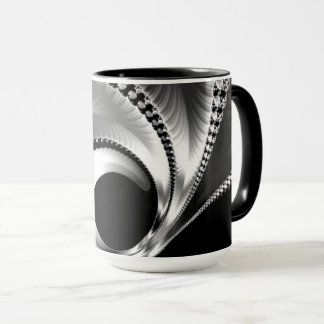 108-44 black & silver crescent moon mug
