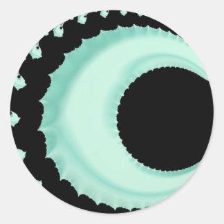 108-48 pale green crescent moon classic round sticker