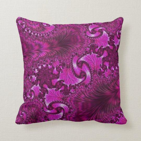 108-53 purple feather & fan throw pillow