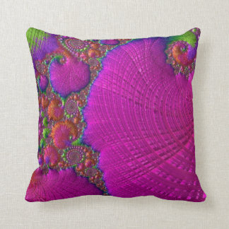108-59 big fuchsia leaf throw pillow