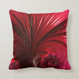 108-60 big shiny red leaf throw pillow