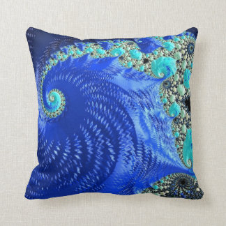 108-61 blue leaf on blue beach throw pillow