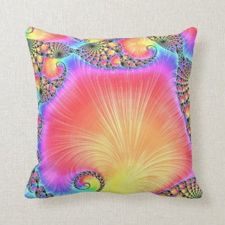108-63 rainbow leaves throw pillow