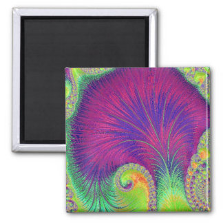 108-67 purple petals square magnet