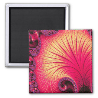 108-68 red & cream petals square magnet