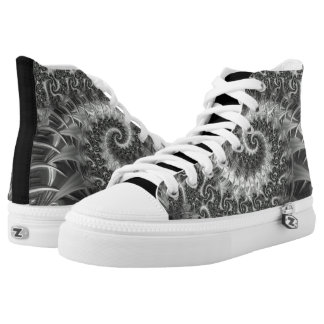 108-71 black & white industrial spiral high tops