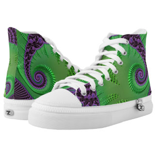 108-78 big green leaf on purple high tops