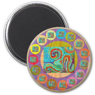 108 OM MANTRA for all 2 Inch Round Magnet