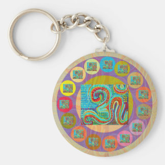 108 OM MANTRA for all Basic Round Button Keychain