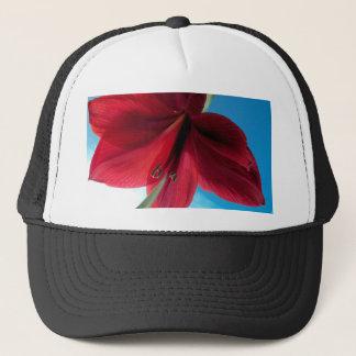 108a Vivid red Amaryllis Flower Trucker Hat