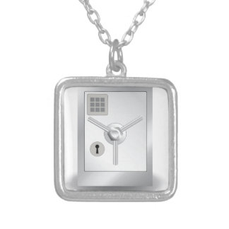 108Metal Safe_rasterized Silver Plated Necklace
