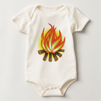 109Fire _rasterized Baby Bodysuit