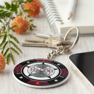 $10,000.00 Gambling Poker Chip Keychain