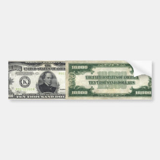 $10,000 Bill Bumper Sticker