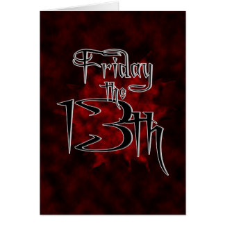10-13 Friday the 13th Card