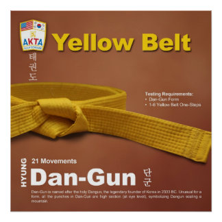 10-2 Yellow Belt Do-jang Poster