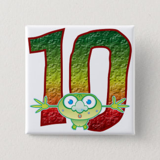 10 Age Ghoul 2 Inch Square Button