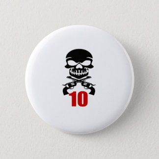 10 Birthday Designs 2 Inch Round Button