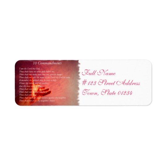 10 Comandments Mailing Labels