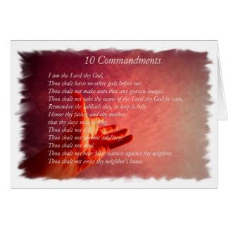 10 Commandments  Greeting Card