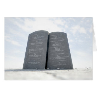 10 Commandments In Desert Card