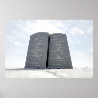 10 Commandments In Desert Poster
