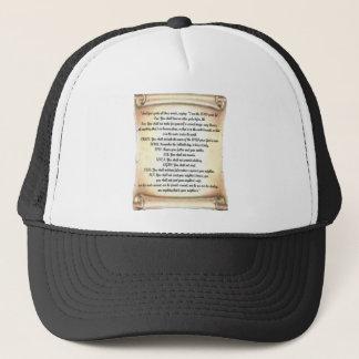 10 commandments trucker hat